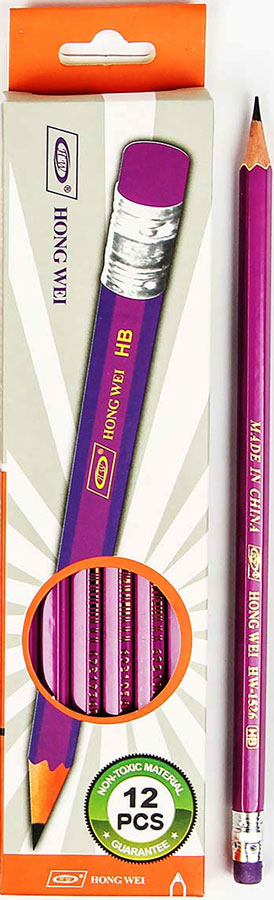 Карандаш чернографитный с ластиком твердость HB цвет корпуса фиолетовый2687374_фиолетовыйИзделия данной категории необходимы любому человеку независимо от рода его деятельности. У нас представлен широкий ассортимент товаров для учеников, студентов, офисных сотрудников и руководителей, а также товары для творчества.