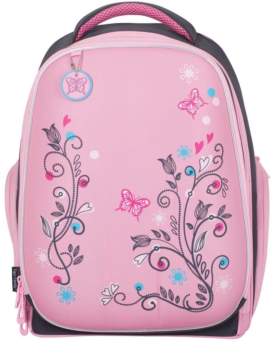 Tiger Family Ранец школьный цвет розовый серый