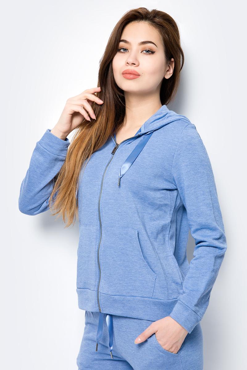 Толстовка женская Sela, цвет: голубой. Stc-113/947-8192. Размер XL (50)