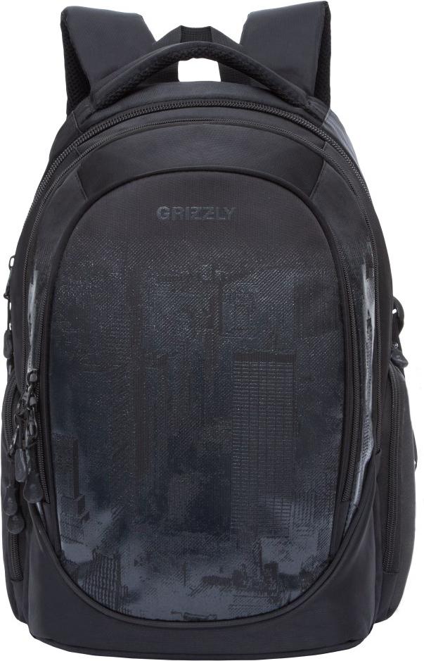 Рюкзак городской Grizzly, цвет: черный. RU-802-1/4 рюкзак городской grizzly цвет черный красный ru 810 1 3