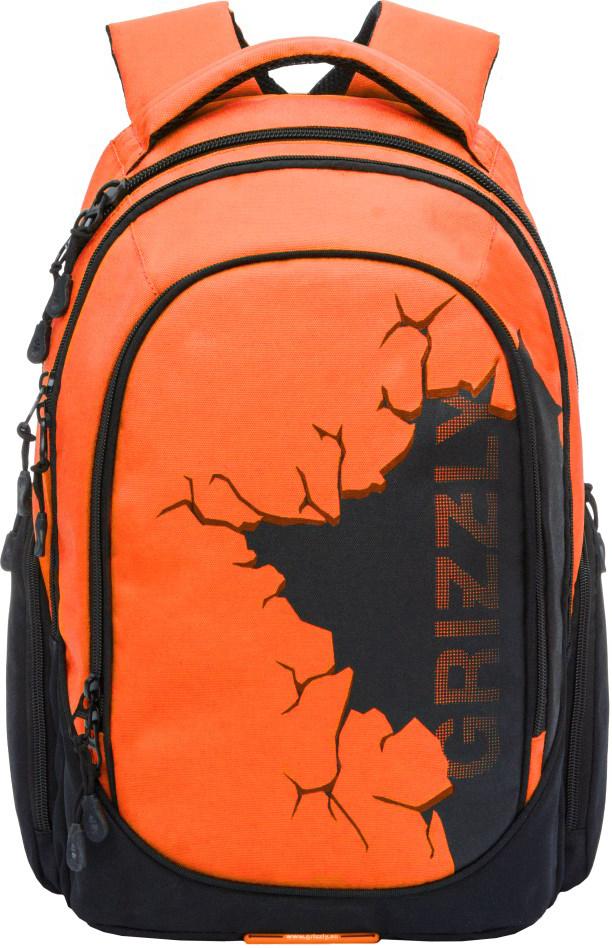 Рюкзак городской Grizzly, цвет: оранжевый. RU-803-1/2RU-803-1/2Молодежный рюкзак Grizzly имеет два отделения, отделение для ноутбука, боковые карманы из сетки, внутренний составной пенал-органайзер. Выполнен из полиэстера. Особенности: анатомическая спинка, карман быстрого доступа в верхней части рюкзака, дополнительная ручка-петля, дополнительная укрепленная ручка, укрепленные лямки.