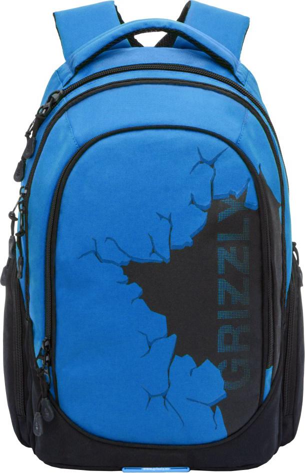 Рюкзак городской Grizzly, цвет: синий. RU-803-1/4RU-803-1/4Молодежный рюкзак Grizzly имеет два отделения, отделение для ноутбука, боковые карманы из сетки, внутренний составной пенал-органайзер. Выполнен из полиэстера. Особенности: анатомическая спинка, карман быстрого доступа в верхней части рюкзака, дополнительная ручка-петля, дополнительная укрепленная ручка, укрепленные лямки.