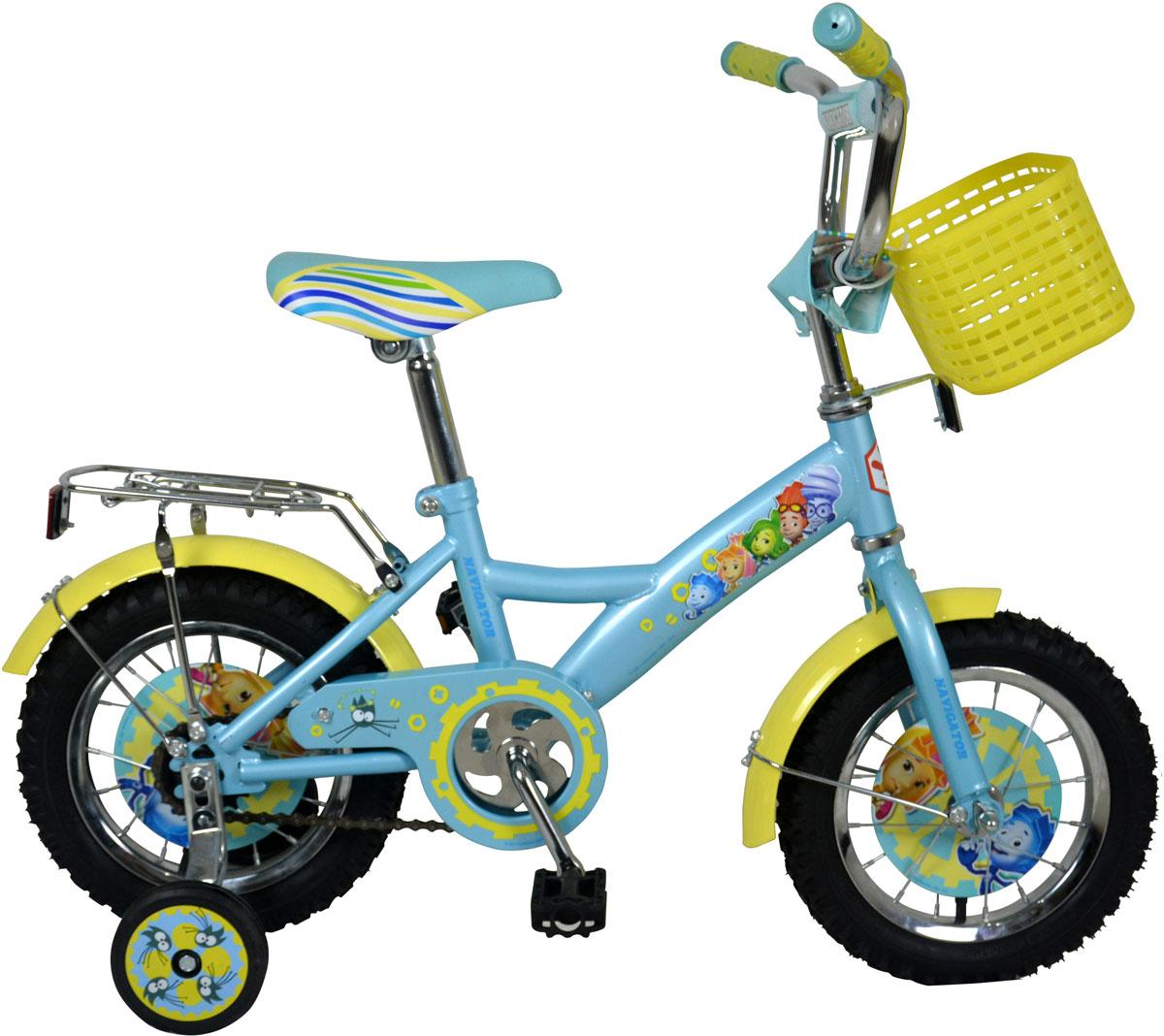 Велосипед детский Navigator Фиксики, цвет: голубой. ВН12095К. ВН12095К велосипед детский navigator том и джерри цвет желтый 16 вн16114