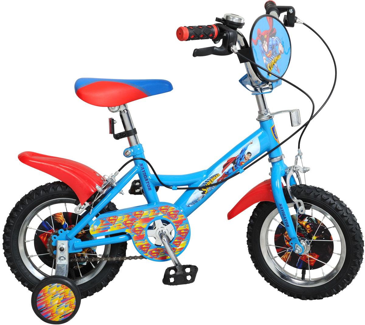 Велосипед детский Navigator Superman, цвет: синий. ВН12100 велосипед двухколесный navigator superman 12 вн12100