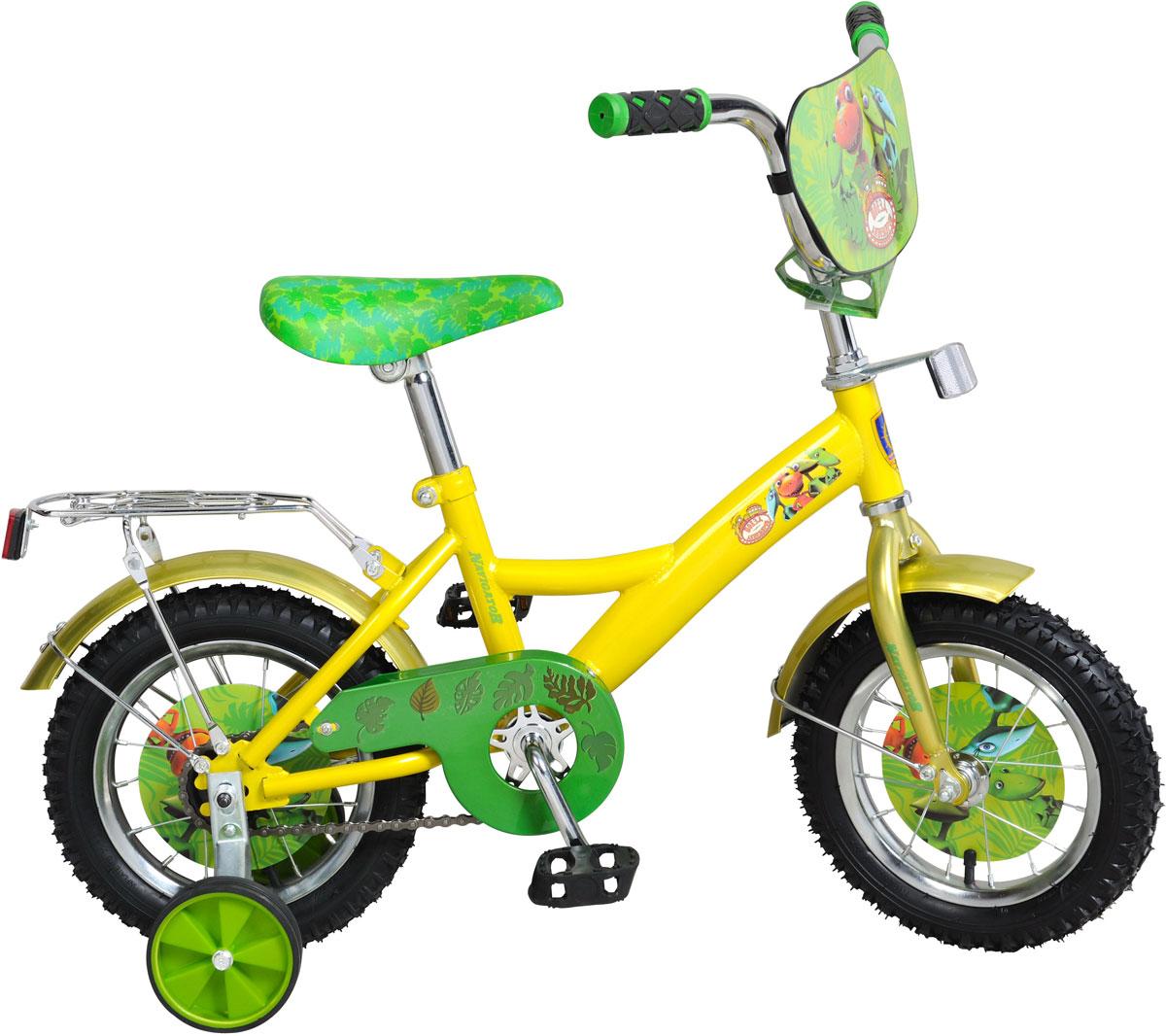 Велосипед детский Navigator Поезд Динозавров, цвет: желтый. ВН12103 велосипед двухколесный navigator superman 16