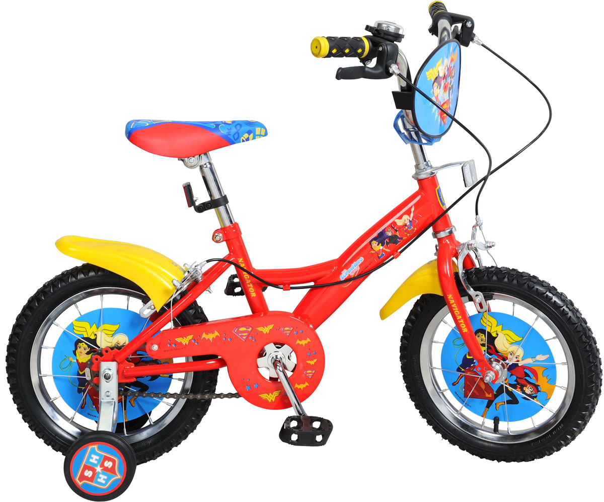 Велосипед детский Navigator Super Hero Girls, цвет: красный. ВН14157. ВН14157 велосипед детский navigator том и джерри цвет желтый 16 вн16114
