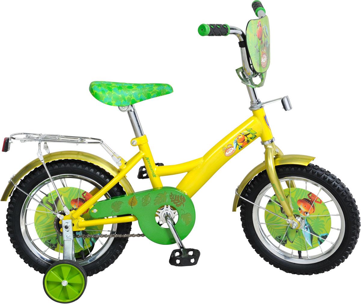 Велосипед детский Navigator Поезд Динозавров, цвет: желтый. ВН14159 велосипед детский navigator kite томас и его друзья 14