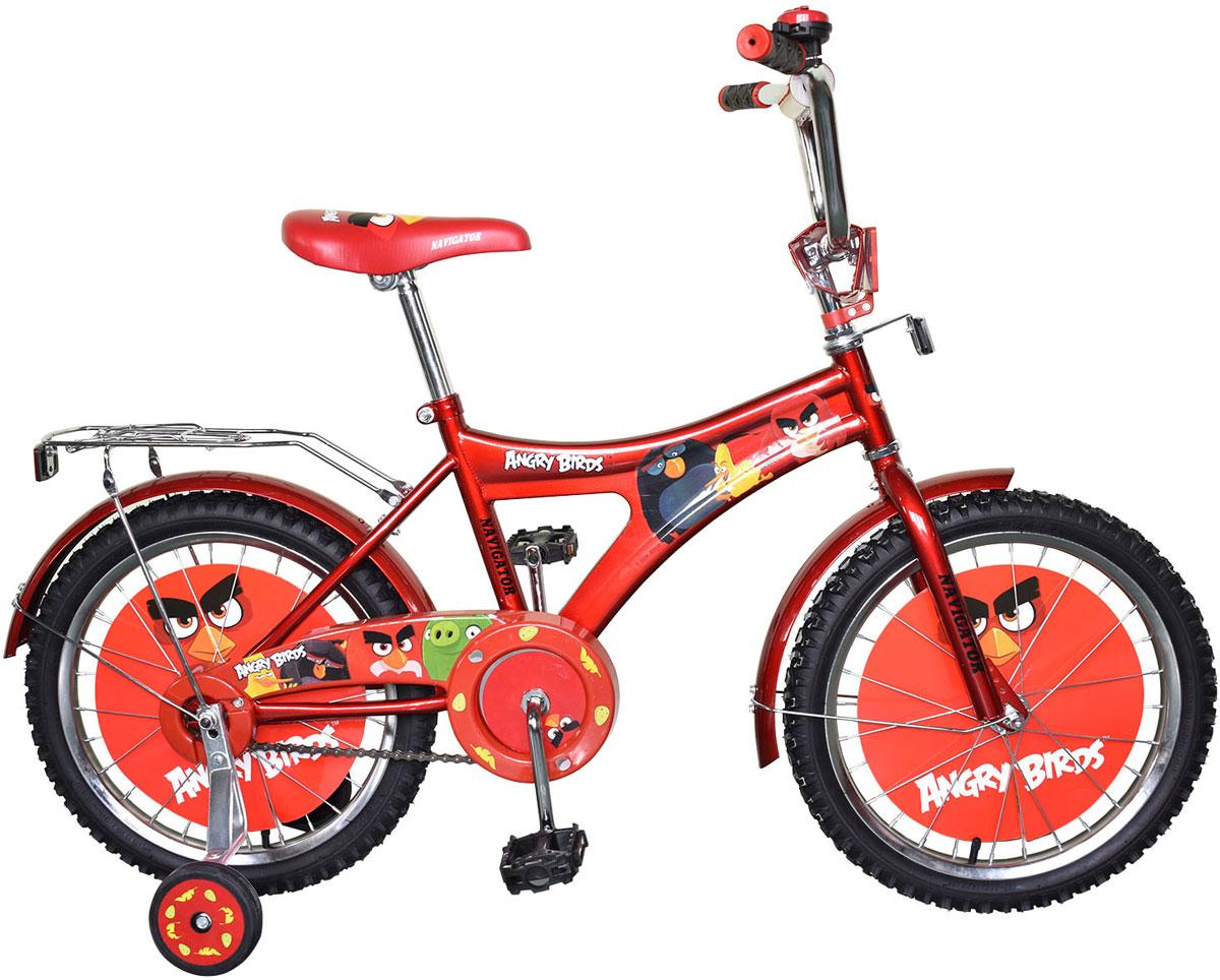 Велосипед детский Navigator Angry Birds, цвет: красный. ВН16073 велосипед двухколесный navigator superman 16