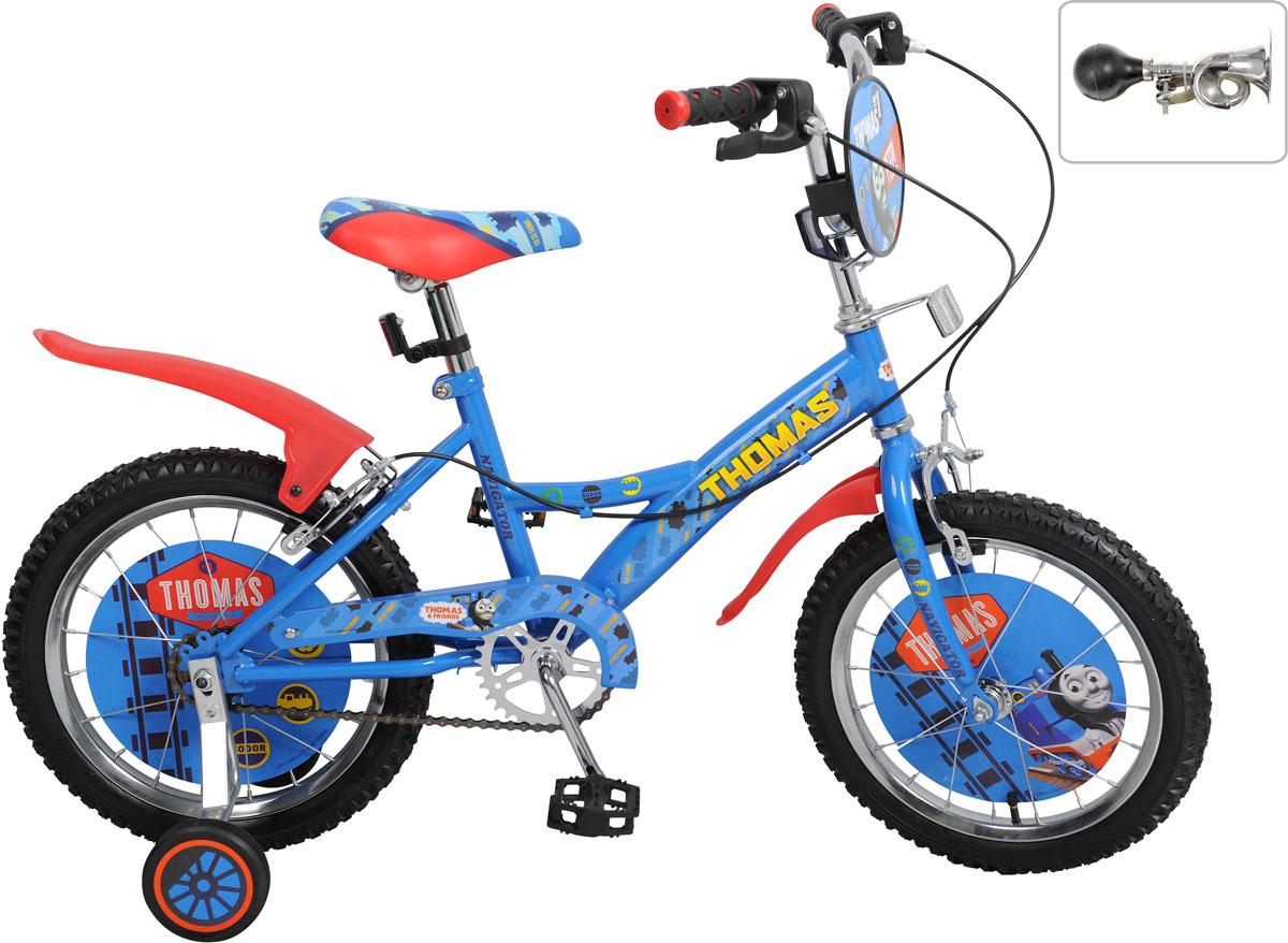 Велосипед детский Navigator Томас и его друзья, цвет: синий. ВН16112КЛ. ВН16112КЛ велосипед детский navigator том и джерри цвет желтый 16 вн16114