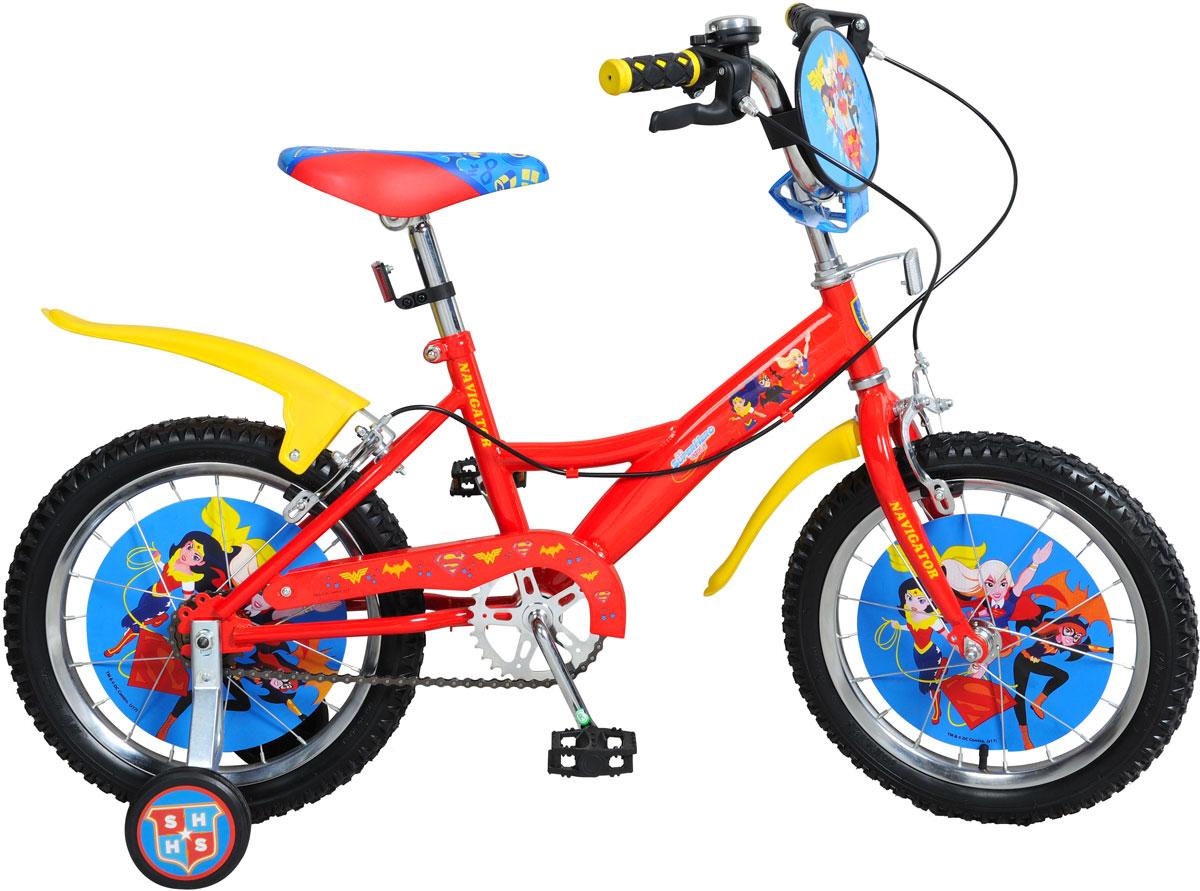 Велосипед детский Navigator Super Hero Girls, цвет: красный. ВН16113. ВН16113 велосипед двухколесный navigator superman 16