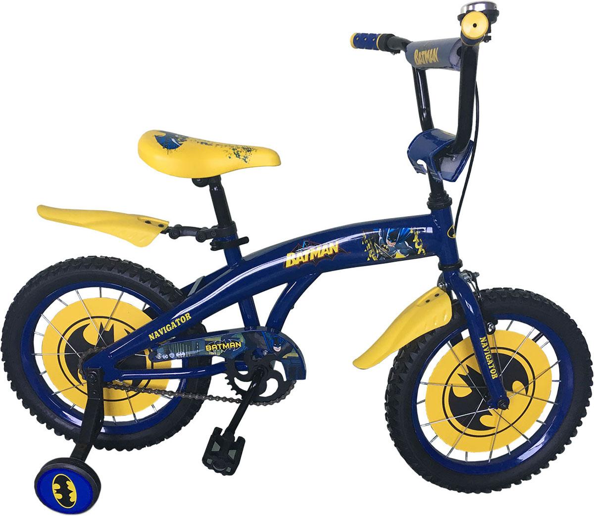 Велосипед детский Navigator Batman, цвет: синий. ВН16116 велосипед двухколесный navigator superman 16