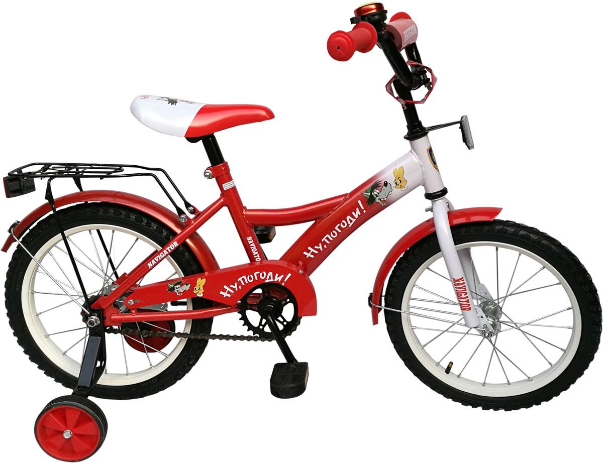 Велосипед детский Navigator Ну, Погоди!, цвет: красный. ВН16120 велосипед двухколесный navigator superman 16