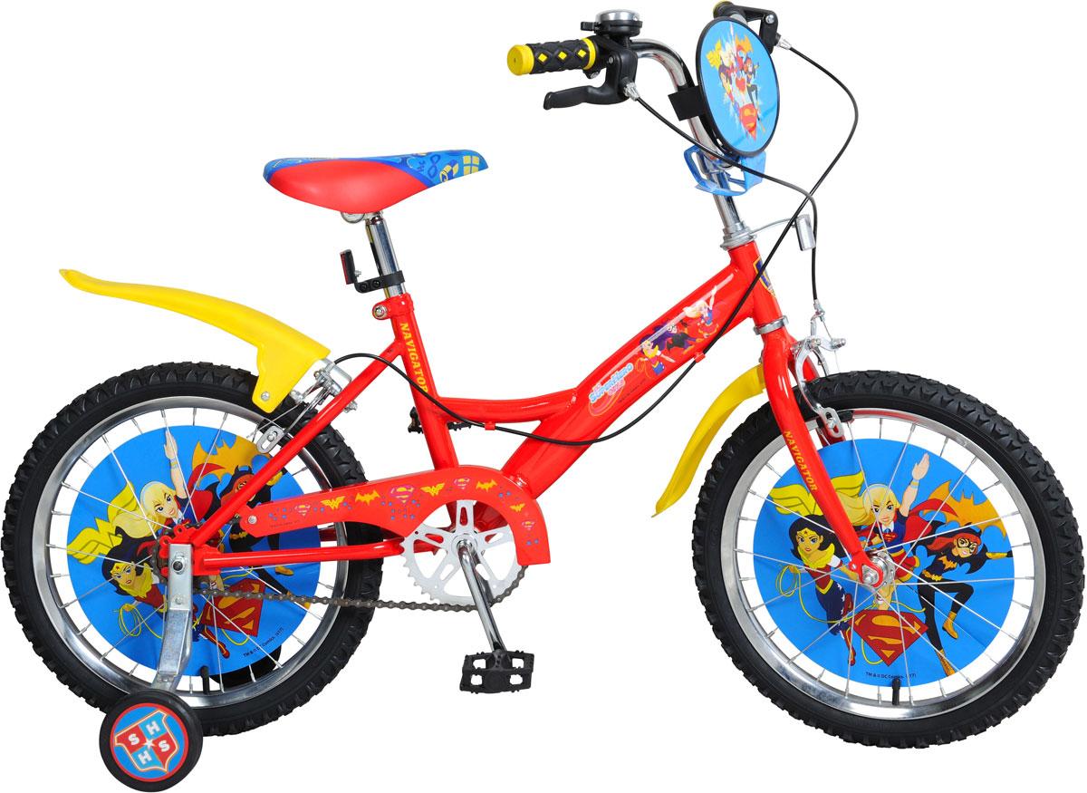 Велосипед детский Navigator  Super Hero Girls , цвет: красный. ВН18079. ВН18079 - Детские велосипеды