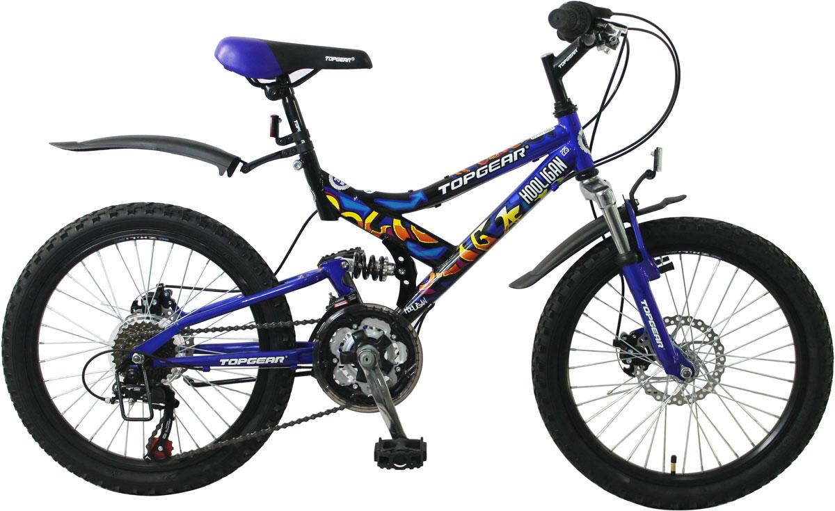 Велосипед детский TopGear Hooligan, цвет: синий.ВН20038