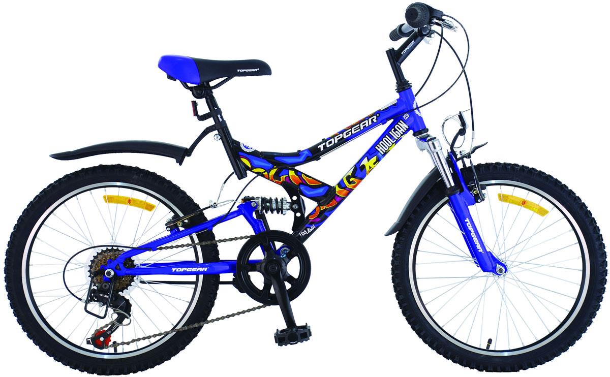 Велосипед детский TopGear Hooligan, цвет: синий. ВН20074