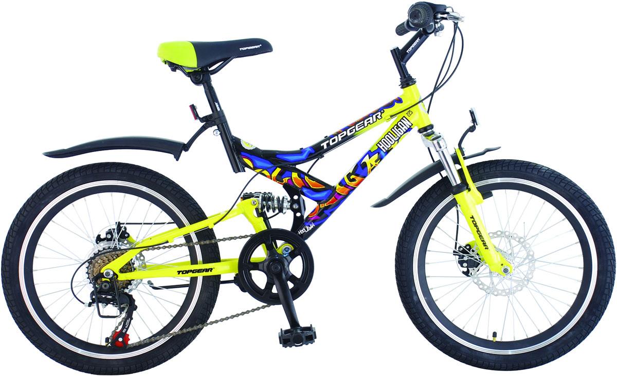 Велосипед детский TopGear Hooligan, цвет: желтый. ВН20075