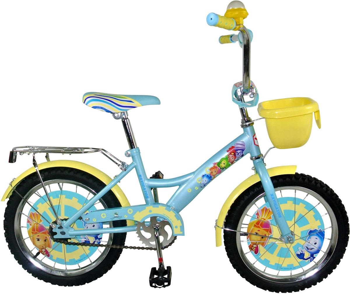 Велосипед детский Navigator Фиксики, цвет: голубой. ВН20161К ключ park tool ccw 5 для шатунов 14 мм x 8 мм ptlccw 5