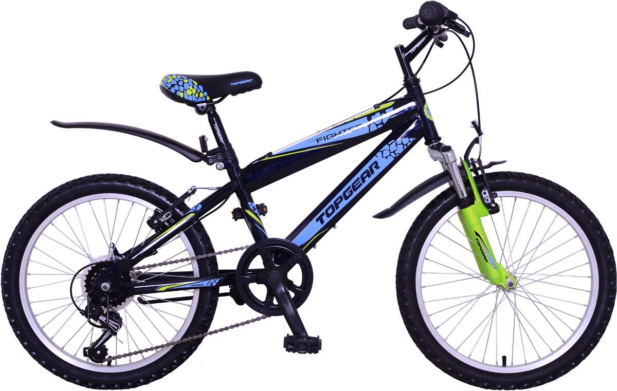 Велосипед детский TopGear Fighter, цвет: синий. ВН20165