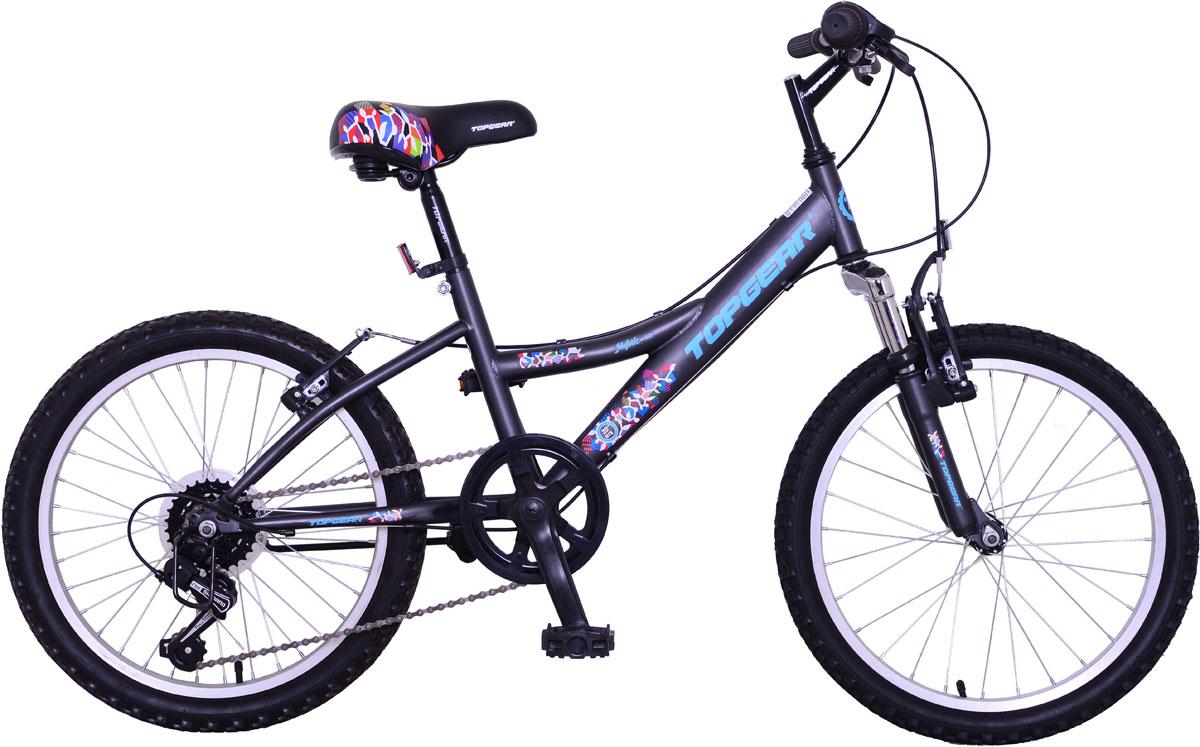 Велосипед детский TopGear Mystic, цвет: синий. ВН20166ВН20166Горный велосипед двухподвес для езды по различным типам местности.