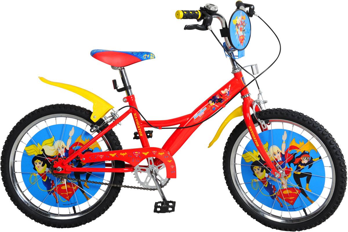 Велосипед детский Navigator  Super Hero Girls , цвет: красный. ВН20169. ВН20169 - Детские велосипеды