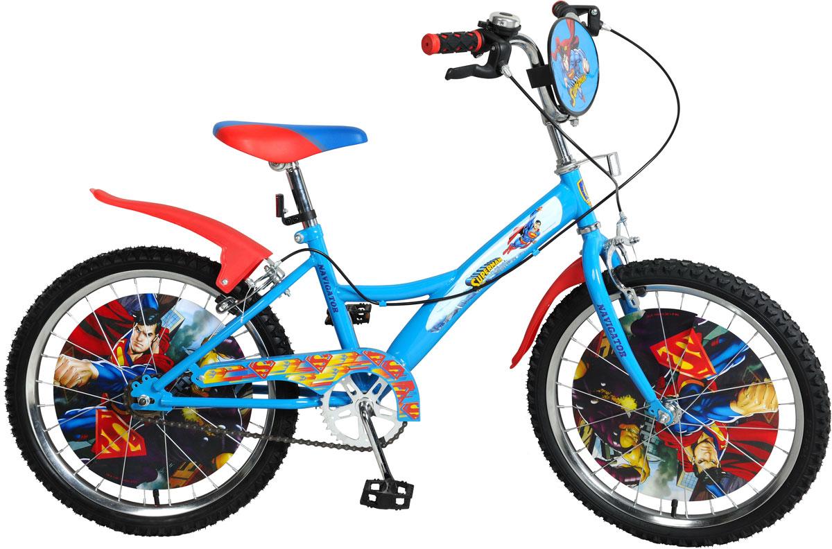 Велосипед детский Navigator Superman, цвет: голубой. ВН20170 велосипед двухколесный navigator superman 16