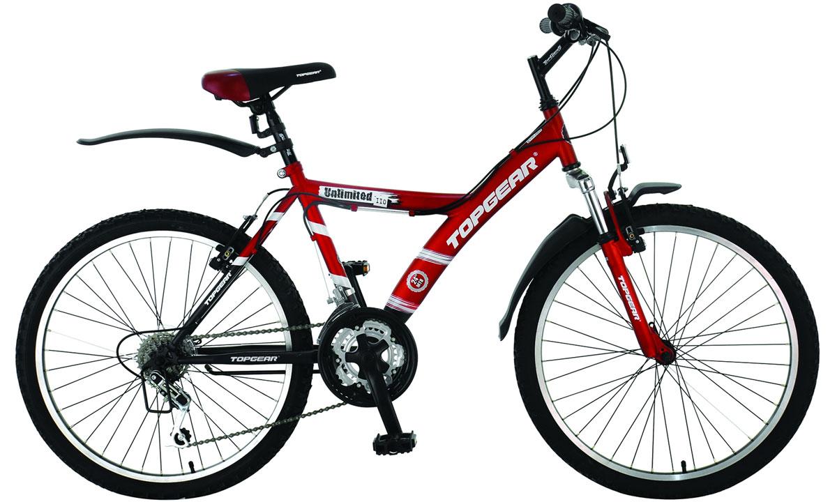 Велосипед детский TopGear Unlimited, цвет: красный, черный. ВН24027Н