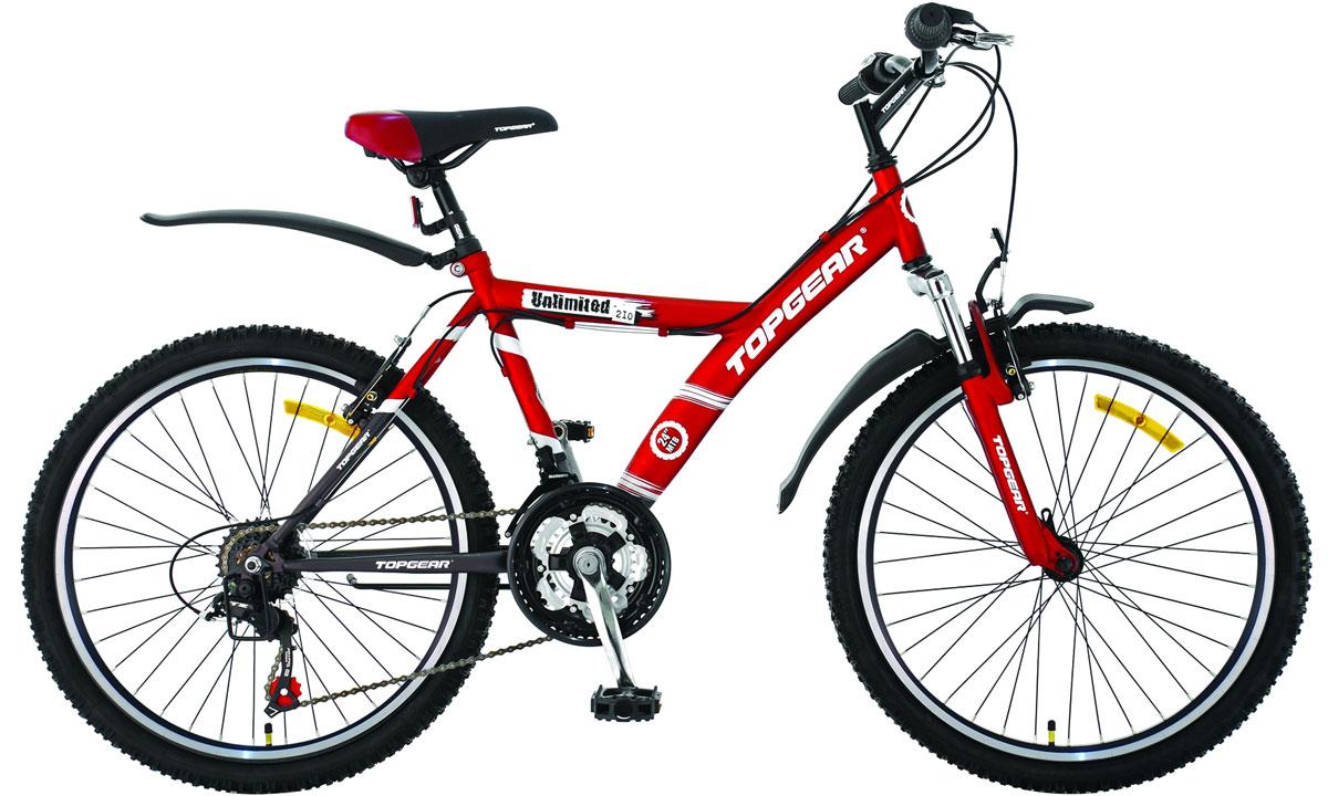 Велосипед детский TopGear Unlimited, цвет: красный. ВН24085ВН24085Велосипед горный с жесткой рамой для езды по различным типам местности.