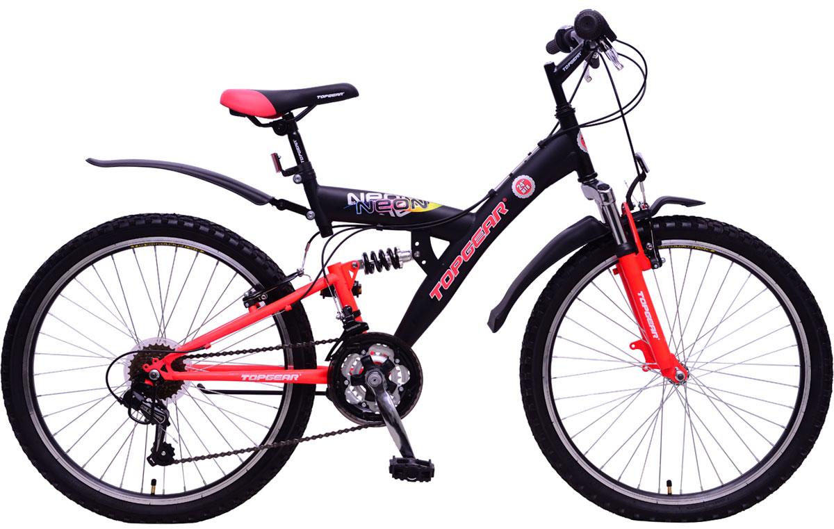 Велосипед детский TopGear Neon, цвет: красный. ВН24124