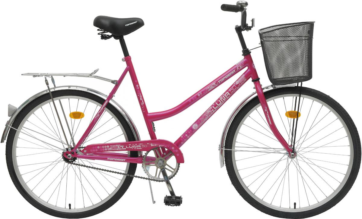 Велосипед детский TopGear Luna, цвет: розовый. ВН26246КВН26246КДорожный велосипед для прогулок по городу и парковой зоне.