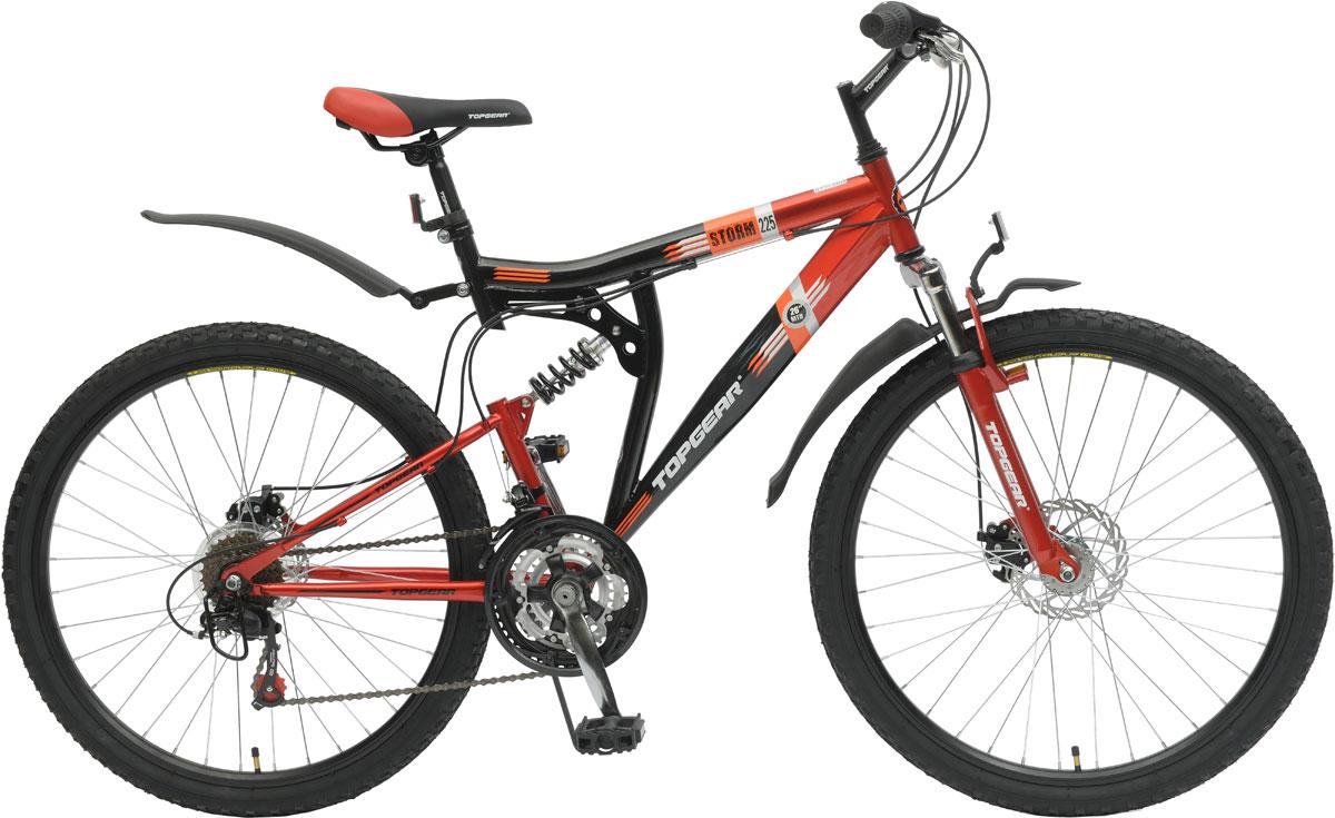 Велосипед детский TopGear Storm, цвет: красный. ВН26388