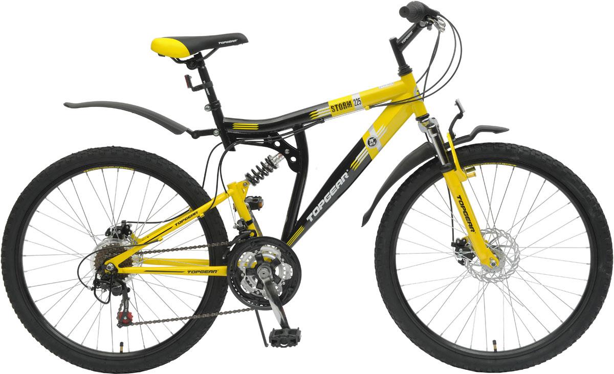 Велосипед детский TopGear Storm, цвет: желтый. ВН26389
