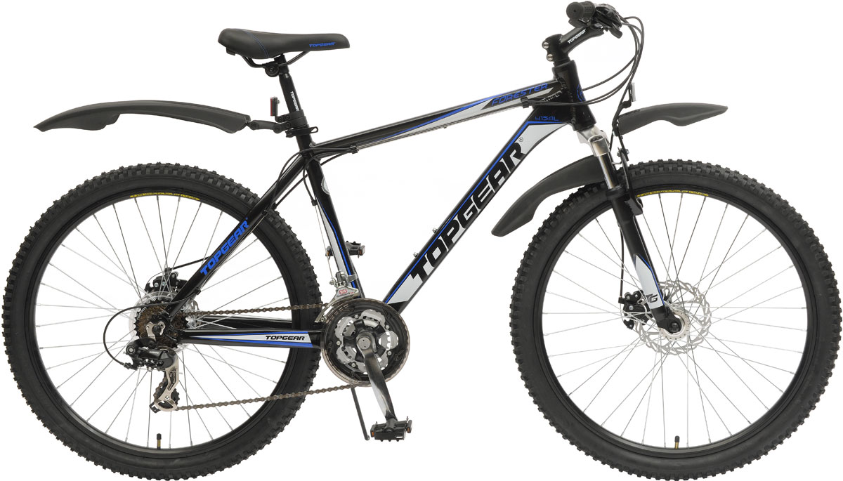 Велосипед детский TopGear FoRester, цвет: черный. ВН26392ВН26392Велосипед горный с жесткой рамой для езды по различным типам местности.