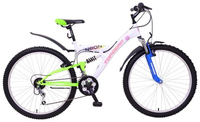 Велосипед детский TopGear Neon, цвет: белый. ВН26407