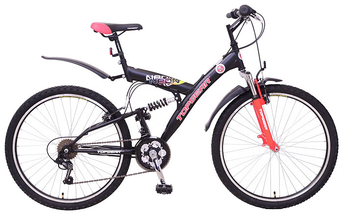 """Велосипед детский TopGear """"Neon"""", цвет: черный. ВН26414"""