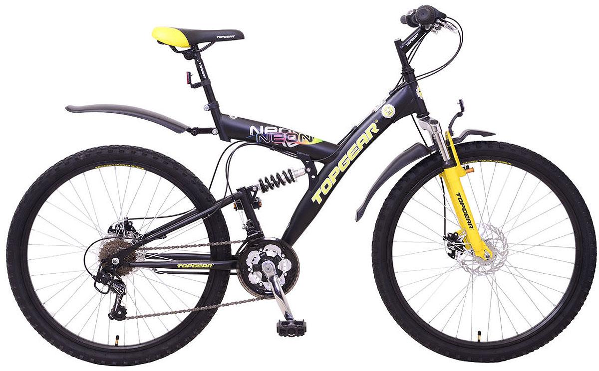 Велосипед детский TopGear Neon, цвет: желтый. ВН26417