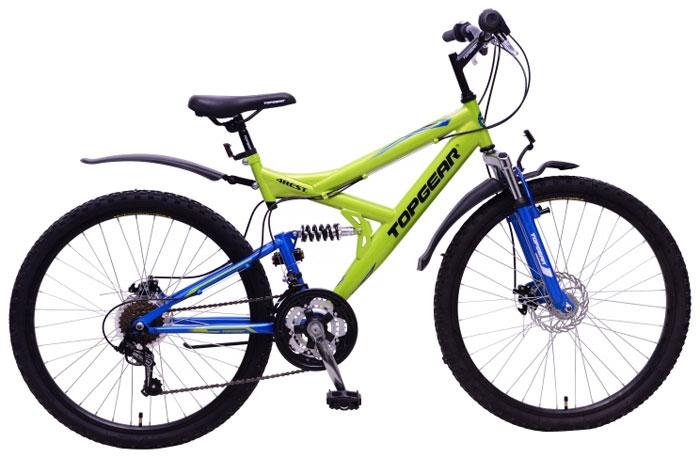 Велосипед детский TopGear 4Rest, цвет: желтый. ВН26425ВН26425Горный велосипед двухподвес для езды по различным типам местности.