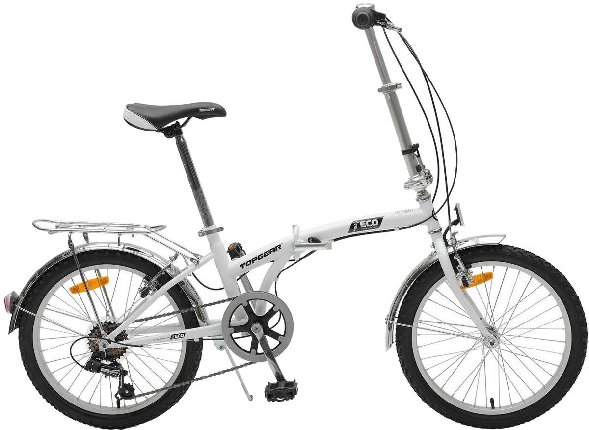 Велосипед детский TopGear Shimano, складной, цвет: белый. ВНС2085