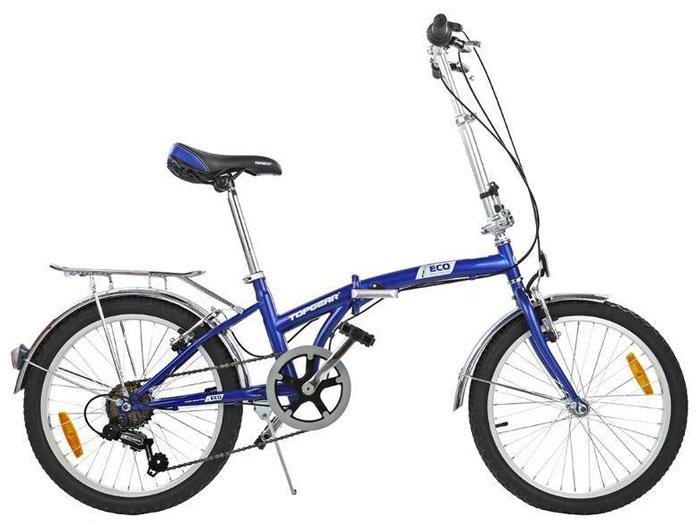 Велосипед детский TopGear Shimano, складной, цвет: синий. ВНС2086