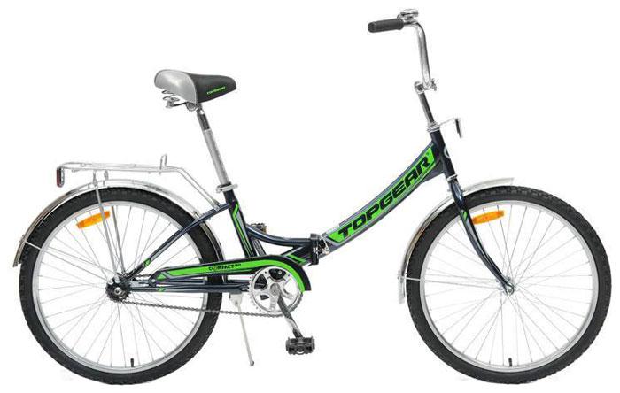 Велосипед детский TopGear Compact, складной, цвет: зеленый. ВНС2482 велосипед geuther велосипед my runner серо зеленый