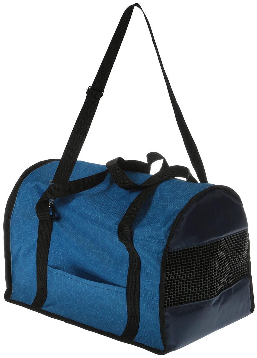 Сумка-переноска для животных Теремок, цвет: голубой, 45 х 29 х 30 см сумка переноска для животных теремок цвет голубой синий белый 44 х 19 х 20 см