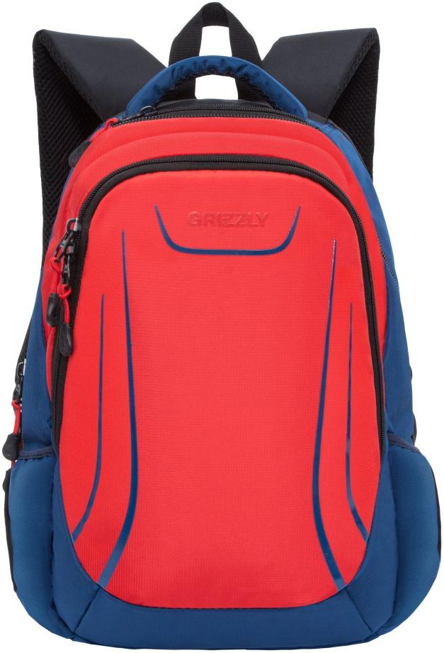 Рюкзак городской Grizzly, цвет: красный. RU-803-2/2RU-803-2/2Молодежный рюкзак Grizzly имеет два отделения, отделение для ноутбука, боковые карманы из сетки, внутренний составной пенал-органайзер. Выполнен из полиэстера. Особенности: анатомическая спинка, карман быстрого доступа в верхней части рюкзака, дополнительная ручка-петля, дополнительная укрепленная ручка, укрепленные лямки.