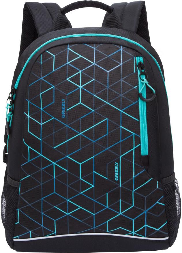 Рюкзак городской Grizzly, цвет: бирюзовый. RU-805-2/1RU-805-2/1Молодежный рюкзак Grizzly имеет одно отделение, карман на молнии на передней стенке, боковые карманы из сетки, внутренний карман для электронных устройств, внутренний карман на молнии. Выполнен из полиэстера. Особенности: укрепленная спинка, дополнительная ручка-петля, укрепленные лямки.
