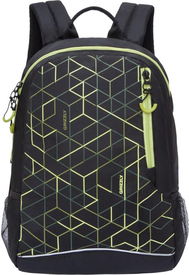 Рюкзак городской Grizzly, цвет: салатовый. RU-805-2/3RU-805-2/3Молодежный рюкзак Grizzly имеет одно отделение, карман на молнии на передней стенке, боковые карманы из сетки, внутренний карман для электронных устройств, внутренний карман на молнии. Выполнен из полиэстера. Особенности: укрепленная спинка, дополнительная ручка-петля, укрепленные лямки.