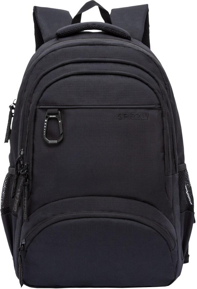 Рюкзак городской Grizzly, цвет: черный. RU-806-1/4 рюкзак городской grizzly цвет черный красный ru 810 1 3