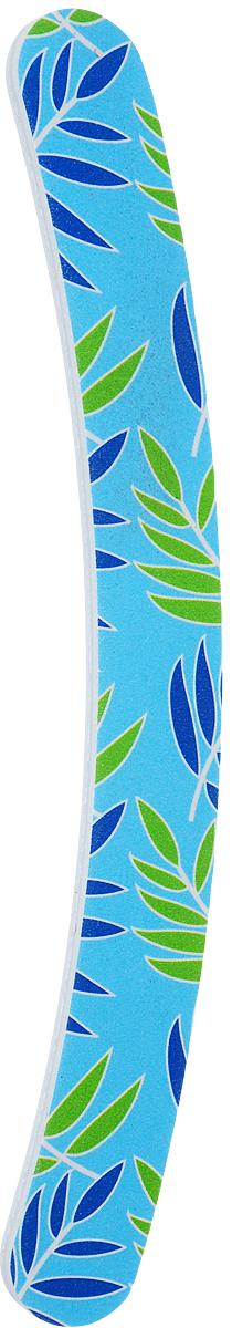 Cute-Cute Пилка маникюрная Бумеранг, цвет: голубой, зеленый, синий, 100/180 zinger пилка полуовал черная 100 180