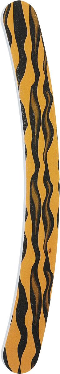 Cute-Cute Пилка маникюрная Бумеранг, цвет: коричневый, черный, 100/180