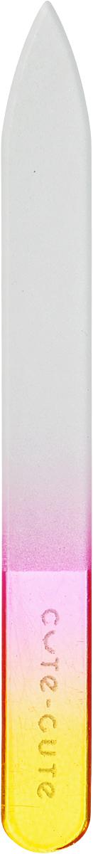 Cute-Cute Пилка стеклянная, цвет: желтый, розовый, длина 9 см фиксатор гибкий storage цвет черный желтый длина 86 см