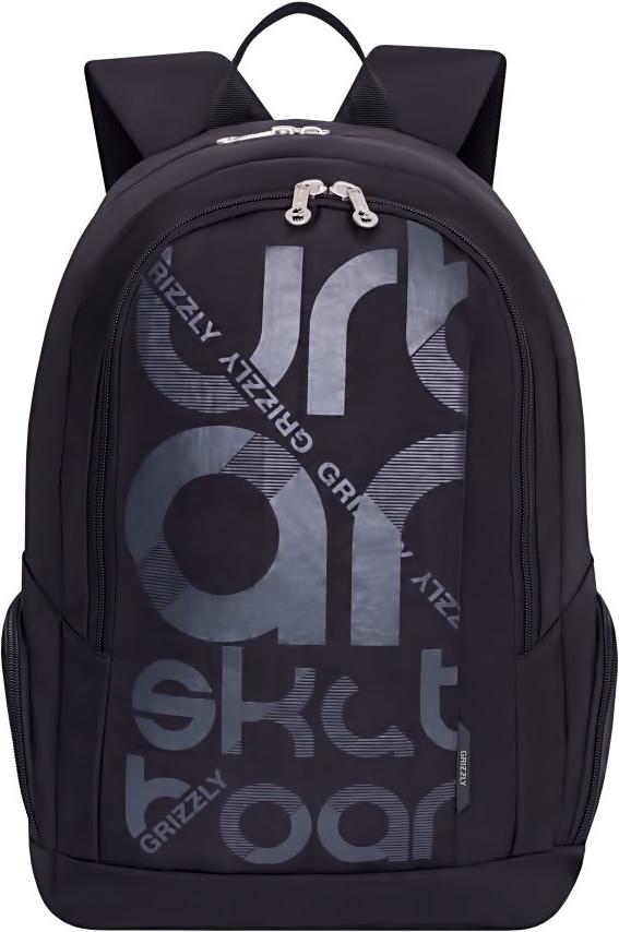 Рюкзак городской Grizzly, цвет: черный. RU-808-1/4RU-808-1/4Молодежный рюкзак Grizzly имеет два отделения, карман на молнии на передней стенке, объемные боковые карманы на молнии, внутренний карман для электронных устройств, внутренний карман на молнии, внутренний составной пенал-органайзер. Выполнен из полиэстера. Особенности: жесткая анатомическая спинка, дополнительная ручка-петля, укрепленные лямки.