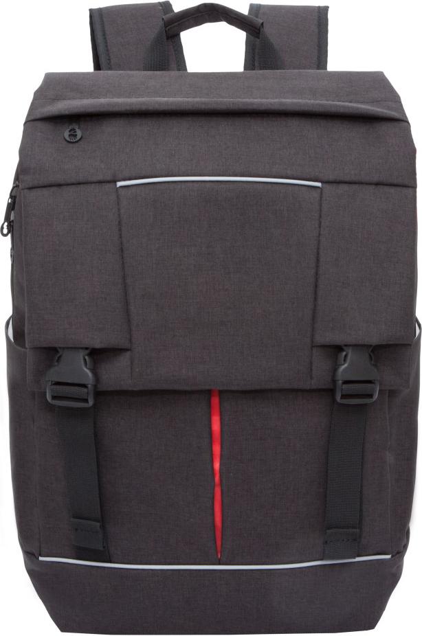 Рюкзак городской Grizzly, цвет: черный, красный. RU-810-1/3RU-810-1/3Молодежный рюкзак Grizzly имеет два отделения, клапан на фастексах с карманом на молнии, карман на молнии на передней стенке, боковые карманы, внутренний карман для электронных устройств. Выполнен из полиэстера. Особенности: анатомическая спинка, карман быстрого доступа в верхней части рюкзака, ручка-петля, нагрудная стяжка-фиксатор, укрепленные лямки.