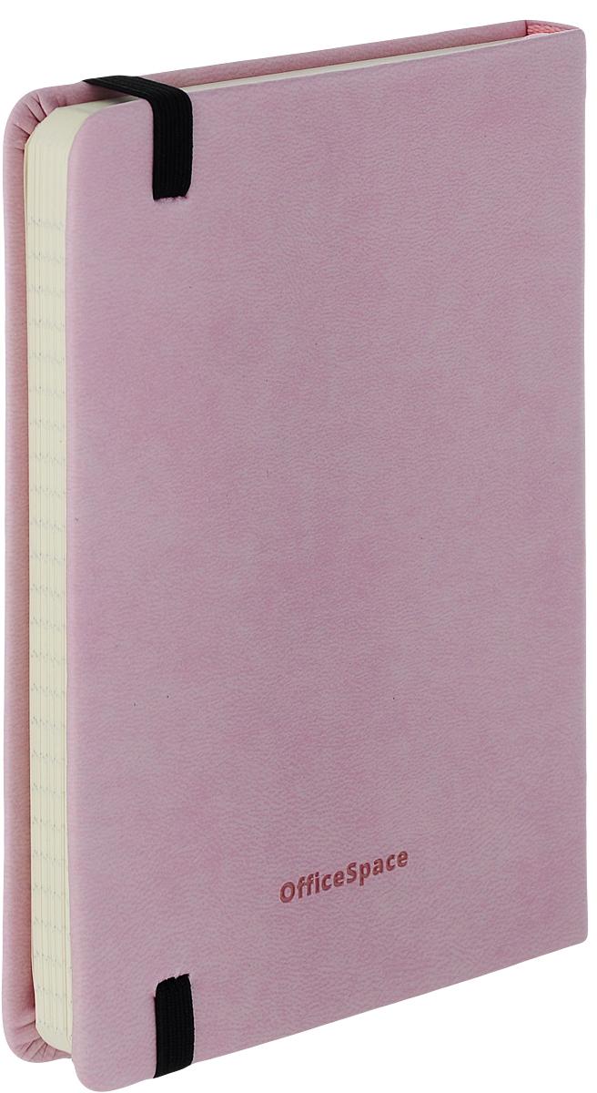 OfficeSpace Записная книжка Classic Velvet 96 листов в клетку цвет светло-розовый формат A6 записная книжка erich krause festival цвет красный 96 листов